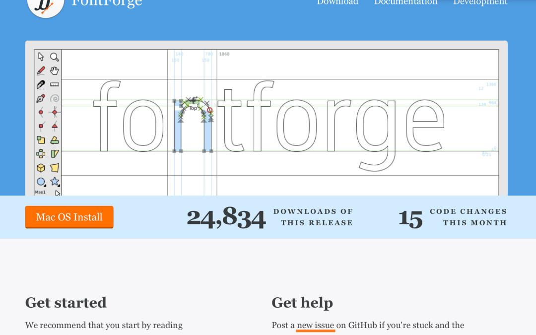 Schriften selbst erstellen: FontForge